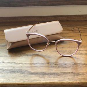 TIJN Maaike Shell Pink Non-Prescription Glasses